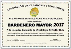 Diplome Bardenero Mayor.